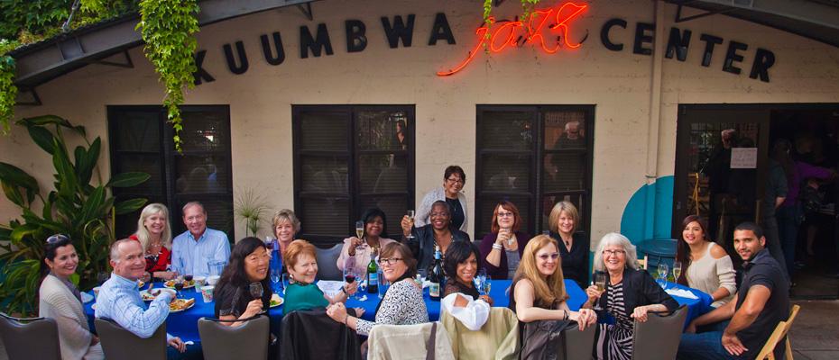 Group Sponsors Jazz Divas enjoy dinner prior to sold out Regina Carter concert, April 21, 2014 (photo r.r. jones)