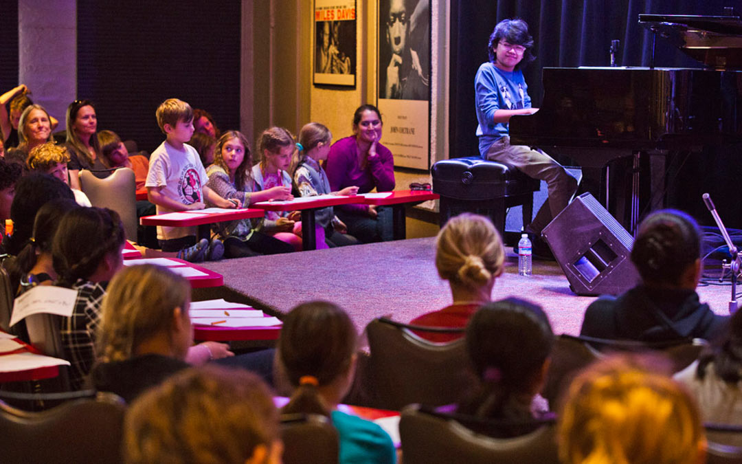 12-Year Old Piano Prodigy Performs for Local Elementary School Students