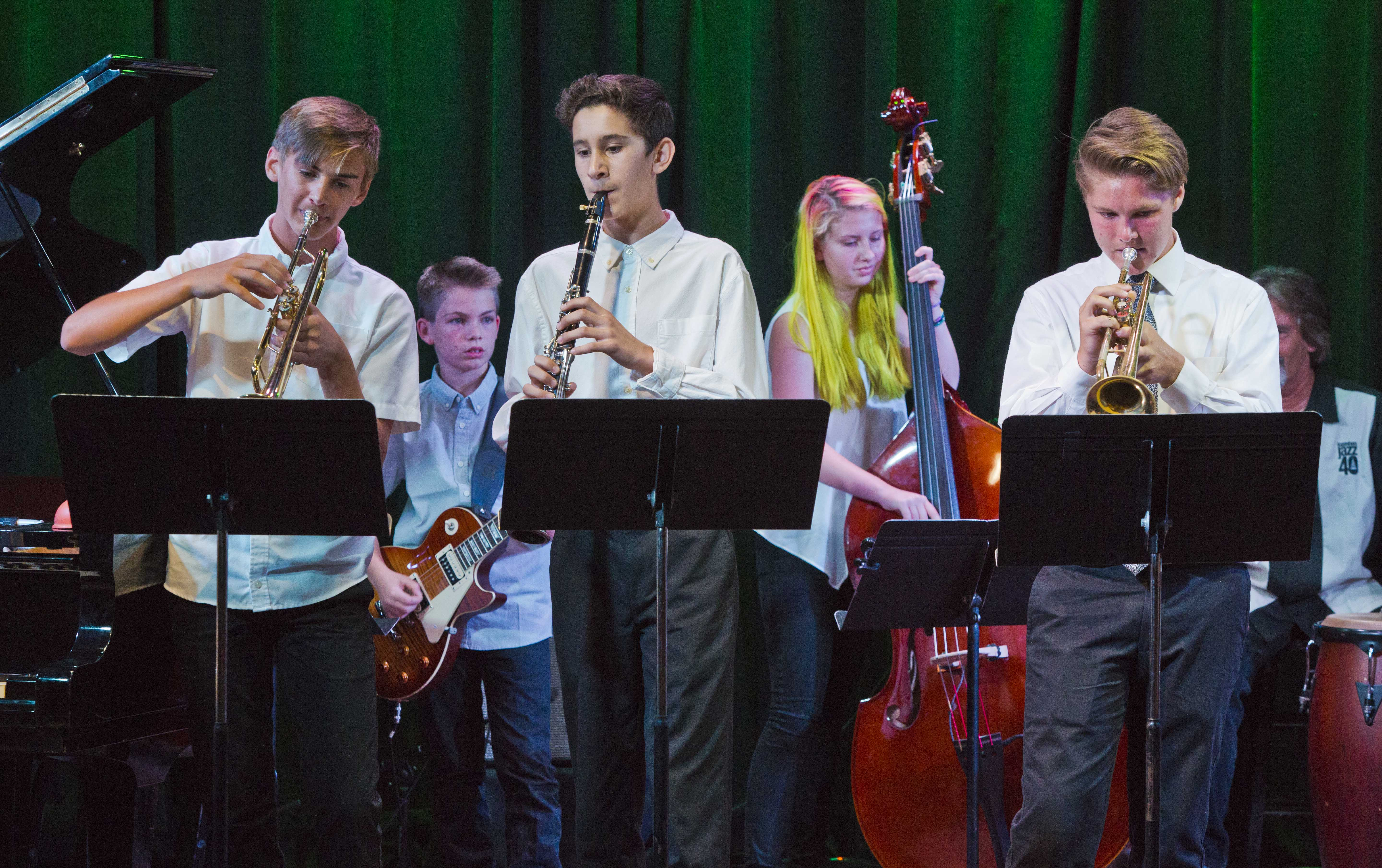 One of the 2017 Jazz Camp bands on the famous Kuumbwa stage.